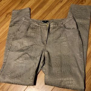 H&M 5 Pkt Zip Front Solid Print Pant Tight Fit S12